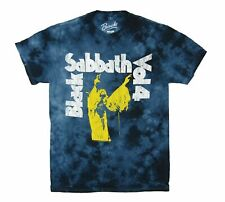 Black Sabbath Vol 4 Ozzy Osbourne Navy Blue Tie Dye T Shirt New Official