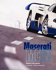 2005 Maserati MC12 Original Car Review Print Article J345