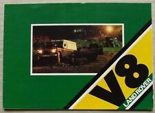 LAND ROVER 109 V8 4x4 Sales Brochure 1980-81 #LR/139/8-80/25M STATION WAGON ++