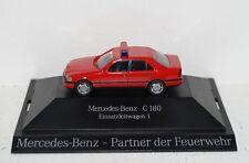 """Mercedes-Benz C180 Einsatzleitwagen 1 """"Partner der Feuerwehr"""" 1:87 PC und OVP"""