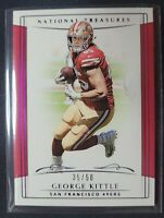 George Kittle 2018 Panini National Treasures Purple 35/50 #12 49ers