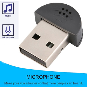 USB Microphone Mic Audio Adapter For Mac PC Notebook Laptop. 0167