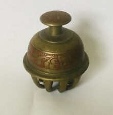 INDIAN BRASS ANIMAL BELL WITH CLAW ELEPHANT DESIGN VINTAGE beautiful tone