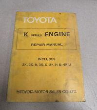 1978 Toyota K Series Engine Service Repair Manual 2K 3K-B 3K-C 3K-H 4K-J