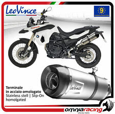 Leovince LV One Tubo de Escape acero aprobado BMW F800GS/Adventure 2008>2016
