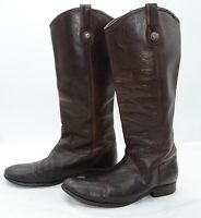 Frye Melissa Button Lug Tall Womens Sz 9 Work Leather Equestrian Riding Boots