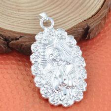 Pure 925 Sterling Silver Catholic Saint Mary Magdalene Pendant