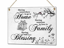 Home Family Blessing Metal Sign Tin Plaque Quote Wall Art Decor