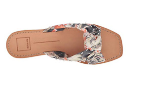 """Dolce Vita Women's Haviva Slide Sandal 7.5 Floral Fabric Knot Wedge 1"""" NEW $100"""