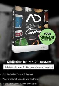 XLN AUDIO Addictive Drums 2, Custom Bundle, Genuine License, New, Unregistered