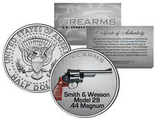 SMITH & WESSON MODEL 29 .44 MAGNUM Gun Firearm JFK Half Dollar US Coin