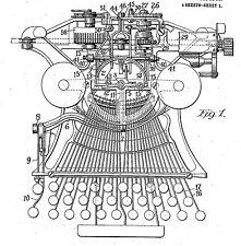 Alte / antike Schreibmaschine v. Hammond: Hist. Infos 1880 - 1923