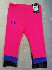 Under Armour Leggings Girls Youth Size 4 Pink NWT Retail $27