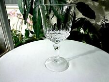 """Cris D' Arques St. Germain Pattern Clear Crystal Water Goblet 6 1/2"""" Retired"""