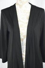 White Stag Womens Large 12-14 Black Long Sleeve Open Cardigan Shrug Layering