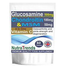 Glucosamine,Chondroitin,MSM,Vitamin C,Complex Joint care Strong Formula 60 tabs