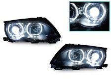 DEPO 02-05 BMW E46 4D/5D F30 V3 U-SHAPE Square Bottom LED Angel Headlight+Xenon