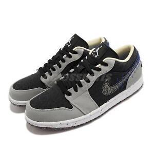 Nike Air Jordan 1 Low SE AJ1 Crater Black Grey White Men Casual Shoes DM4657-001