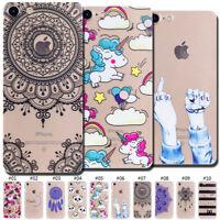 For Apple iPhone 7 Plus/8 Plus Pattern TPU Soft Back Rubber Cute Skin Case Cover