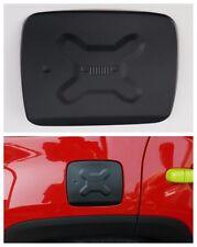 For Jeep Renegade 2015-2017 Black Aluminum Fuel Filler Door Cover Gas Tank Cap