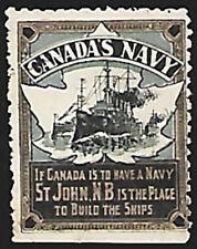 1909 Canada's Navy - St. John N.B. promotional