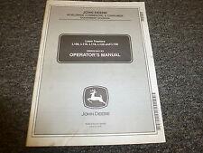 John Deere L100 L110 L118 L120 L130 Lawn Tractor Owner Operator Manual OMGX21647