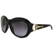 Gafas de sol de mujer ovaladas en negro de plástico