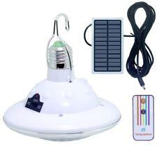 Solarlampe Solar Birne Glühbirne Dimmbar mit Fernbedienungskontrolle Solar Panel