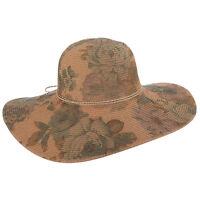 CR299 Ladies Callanan Printed Paper Braid Big Brim Hat One Size
