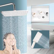 "Twin Shower Head Bathroom 11.4""Top Sprayer+ 5""HandHeld Rainfall Set Chrome Us"