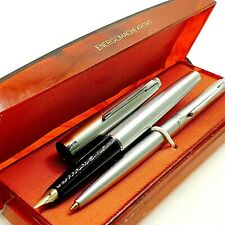 SOYUZ ballpoint FOUNTAIN pen SET in box 1970's VINTAGE Russian Soviet era