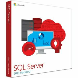 SQL Server 2016 Standard Product Key License MS 24 CPU Core Unlimited CALS