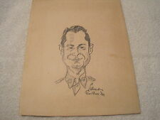 1944 WW2 Original Artwork by Lane / Fort Bliss Pencil Sketch #1