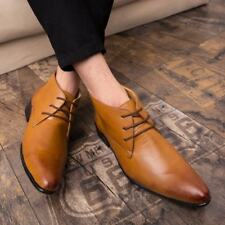 British Men Faux Leather Lace Up Pointed Toe Business Wedding Formal Dress Shoes