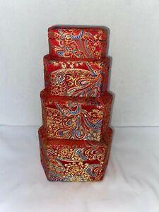 Set of 4 Hexagon Nesting Boxes