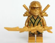 'LEGO Ninjago™ Gold Ninja Lloyd -With 3 weapons (Dragon Sword and Katanas) LEGO®' from the web at 'https://i.ebayimg.com/thumbs/images/g/aGAAAOSwq7dXFTVB/s-l225.jpg'
