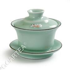120ml GongFu Tea Chinese Longquan celadon Handmade 3D Fish Gaiwan teacup teapot