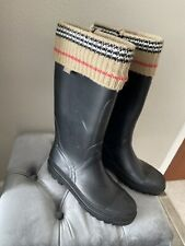 BURBERRY SOCK RUBBER BOOTS