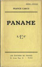 EO 1934 N° SUR ALFA  + FRANCIS CARCO : PANAME