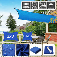 20' 300D Sun Shade Sail Canopy Patio UV Block Top Rectangle Cover Outdoor