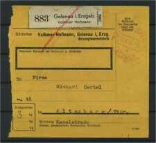 Paketkarte 1944 GELENAU IM ERZGEB. siehe Beschreibung (117216)