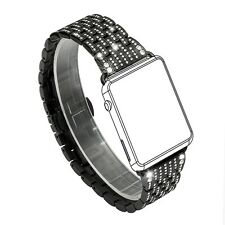 Women Apple Watch Band Crystal Rhinestone Diamond Luxury Bracelet 38mm Black New
