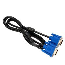 6ft Super SVGA VGA Monitor 15 PIN Male To Male Extension Cord Cable For Laptop
