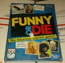 Funny or Die -The Hilarious Caption Game New and Sealed Hasbro Gaming