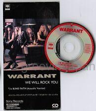 "WARRANT We Will Rock You /Blind Faith (Acoustic Version) JAPAN 3"" CD SRDS8227"