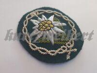 WKII : Offiziere Gebirgsjäger Edelweiß Abzeichen - Mountain troops officer badge