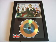 BARRY MANILOW    SIGNED  GOLD CD  DISC  91