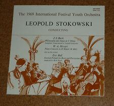 LP Vinyl Leopold Stokowski Bach Mozart Ball de Carli Piano Ave 30696 FOC