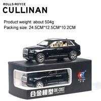 7.8 Inch Rolls Royce Cullinan Diecast Alloy Car Simulation SUV Metal Light Sound