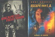 ESCAPE FROM NEW YORK 1-2 (L.A.): John Carpenter+Kurt Russell Classics- NEW 2 DVD